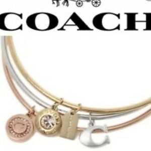 NWT Coach 3 bangle bracelet